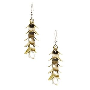 Jewelry - Sterling Silver & Gold Reversible Floral Earrings